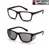 Pyramex Conaire Safety Glasses Black Frame with Integrated Side Shields 1/Pair