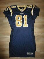 Tory Holt #81 St. Louis Rams NFL Game Worn Reebok Football Jersey Signed PSA/DNA