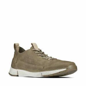 Men's Shoes Clarks TRI SPARK Nubuck Lace Up Athletic Sneakers 35655 KHAKI *New*