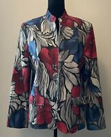 Alfred Dunner Floral Print Jacket, Women's Size 12 Good Condition
