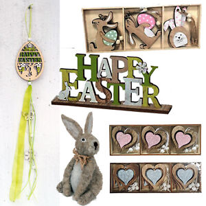 Hanging Easter Bunny Egg Decorations Wooden Tree Ornament Rabbit For Home Décor