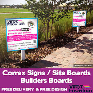 Full Colour Printed Correx Signs/ Site Boards/ Builders Boards - Free Design!