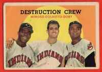 1959 Topps #166 Destruction Crew VG+ MARK CREASE Lary Doby Rocky Colavito Minoso