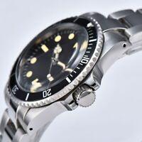 Men's Watch Automatic Vintage Submariner 1960 Plexiglass Dome 40mm Alumium Bezel