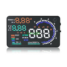 Universal A8 OBD2 HUD Car Head Up Display GPS Speedometer MPH/KMH Speed Warning