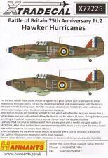 XTRADECAL 1/72 Hurricane modello I pt.2 BATTAGLIA D'Inghilterra #72225