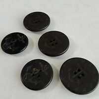 """Vintage Military AHR Co. HP Navy Peacoat Buttons 1 3/8"""" & 1 1/2"""" Set of 5"""