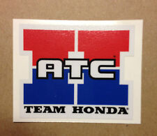 "Honda Team Honda ATC Reproduction Decal 3.25"" 250R 350X 70 200X ATC350X"