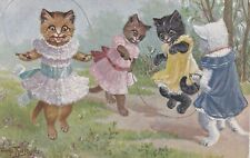 Arthur Thiele  Girl Cats play with skipping ropes.  TSN