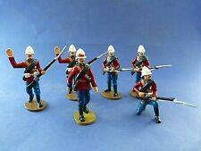 Frontline Figures - 6 soldats britanniques 24th rgt zulu wars - zoulous