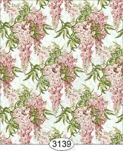 Dollhouse Quarterscale Wallpaper - Floral Wisteria Pink