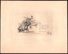 Auguste Lepère. Faire part de Naissance Marthe Marie Demange. Eau-forte. 1902