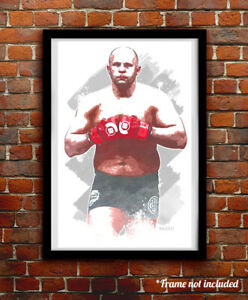 FEDOR EMELIANENKO watercolor painting art print/poster UFC MMA FREE S&H!