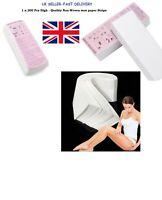 1 x 200 Paper Strips Wax waxing leg body non-woven best professional quality-UK