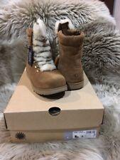 UGG  Viki WP Youth Waterproof Suede Sheepskin Fur Shearling Boots 4-Womens 6