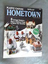 HOMETOWN Cottage HOUSES Christmas Village PLASTIC CANVAS Craft PATTERN 89PH5