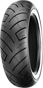 "Shinko R 777  Wide White Wall 15"" Rear 180/70-15 82H Bias Ply Motorcycle Tire"