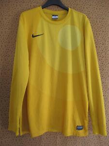 Maillot Nike Gardien Vintage Team sport Jaune Dri Fit Jersey Foorball - M
