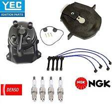 YEC NGK DENSO Ignition Kit Distri.Cap Rotor Plugs Wire for Honda Civic1.6L 96-00