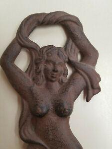 Art Sculpture Naked / PinUp Woman Cast Iron or Bronze Vintage Figure