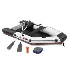 7.5FT/10FT PVC Inflatable Boat Raft Tender w/ Oar Aluminum Floor for Fishing