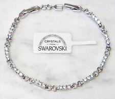 Bracciale tennis oro bianco 18k Uomo Donna,braccialetto infinito classico SW