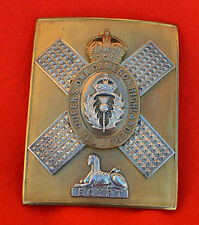 British Army. Queen's Own Cameron Highlanders Officer's Shoulder Belt Plate