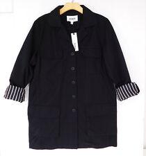 BB DAKOTA Black Button Down Collared SHIRT Boyfriend Lined Sleeves SMALL NEW