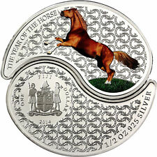 Fiji 2014 Yin & Yang Year of the Horse 2*1/2 Oz Silver Proof coins