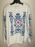 Wildfox Couture Womens Wildcard Pullover Sweater White