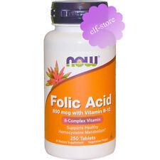 Now Foods, Folic Acid with Vitamin B-12, 800 mcg, 250 Tablets