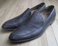 John Varvatos Mens 8.5 Brown Slip On Venetian Loafers Mocs Dress Shoes Italy