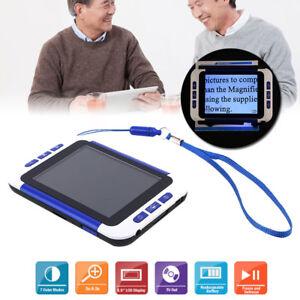 Tragbare elektronische 3,5-Zoll-Digitalvideolupe Farbe Sehbehinderung Lesehilfe