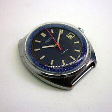 Vintage Soviet Russian USSR Vostok rat look blue face 2214 mechanical watch.
