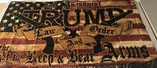 Trump Law and Order 2nd Ammendment Flag 3'x5'