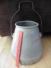 XL Vintage Wear-Ever Aluminum Milk Bucket Dairy Cow Farm Pot kettle with handle