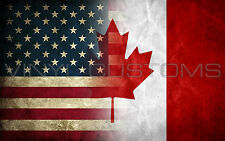 """5"""" Canada Flag Decal Vinyl Sticker American Flag Decal"""