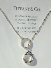 Tiffany & Co Sterling Silver 1837 Interlocking Circles Lariat Necklace