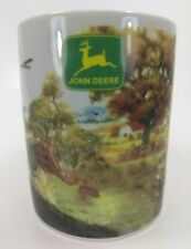 John Deere Farm Scene Coffee Mug Tea Cup Tractor Dog Garden Country by Gibson