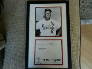 """STAN MUSIAL FRAMED 8x10 PHOTO w/AUTOGRAPH FROM """"STAN the MAN"""" & JSA COA LOOK!!!"""