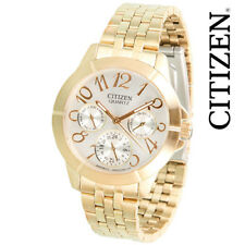 Citizen Gold Tone Stainless Steel Women's Chronograph Watch