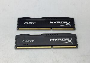 HyperX FURY 8GB Total Kit (2x4GB) 1600MHz DDR3 DIMM - Black (HX316C10FBK2/8)