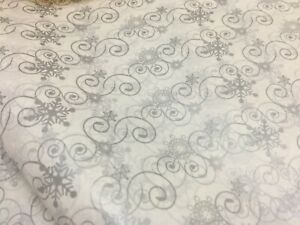 250 or 500 Large sheets Silver snowflake  acid free tissue ideal for Xmas