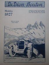 10/1926 PUB AUTOMOBILE MOTEUR DE DION BOUTON PUTEAUX COL DE LA CROIX DE FER AD