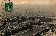 CPA Paris 8e, Panorama de Paris pris du Sommet de la Tour Eiffel(363096)
