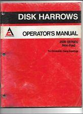 Original Allis Chalmers 71505383 Operators Manual For 2500 Series Disk Harrows