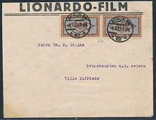 Steuermarken MeF als Freimarken Beleg Notmassnahme Berlin 1923 Attest (S12839)