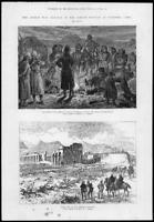 1880 Antique Print - AFGHAN WAR SHERPUR KABUL Defences Gatling Gun Army (118)