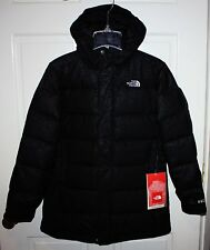 NWT Girls The North Face Black 550 Down Coat Size Large 14/16