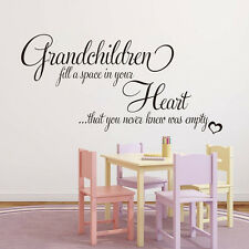 DIY Grandchildren Letter Wall Stickers For Kids Living Rooms Bedroom Decoration